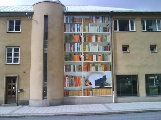 Street-Art-Inside-a-Bookshelf-540x404