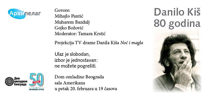 80 godina od rođenja Danila Kiša