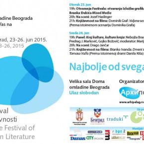 Počinje 4. Beogradski festival evropske književnosti