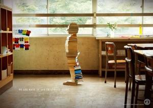 Skulpture napravljene od knjiga kao podsticaj radu biblioteka (Japan)