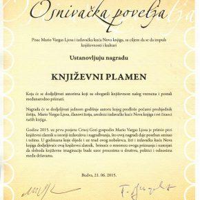 Klaudiju Magrisu uručena Nagrada KNJIŽEVNI PLAMEN