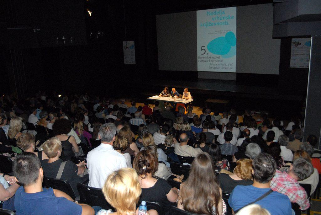 DAVID GROSMAN I GOJKO BOZOVIC 5. BEOGRADSKI FESTIVAL EVROPSKE KNJIZEVNOSTI ARHIPELAG DOM OMLADINE BEOGRADA 22.06.2016. FOTO Stanislav Milojkovic